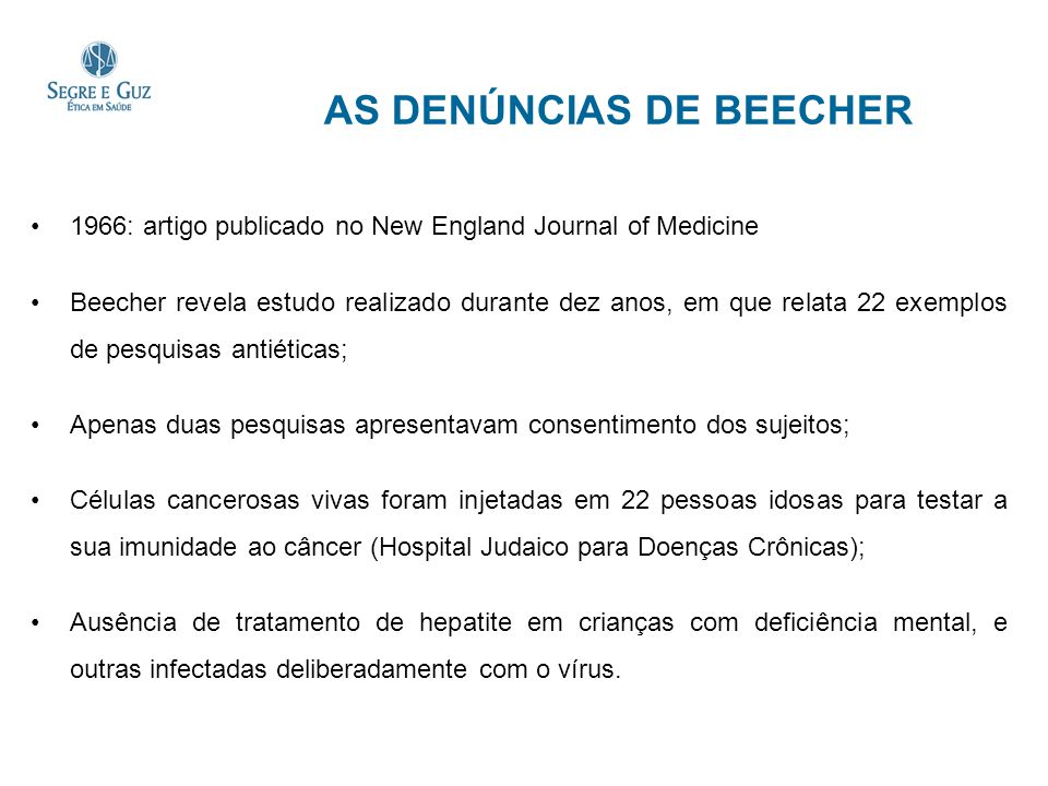 AS DENÚNCIAS DE BEECHER