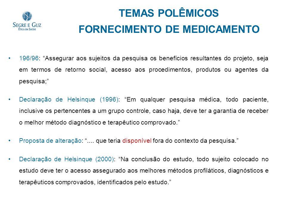TEMAS POLÊMICOS FORNECIMENTO DE MEDICAMENTO