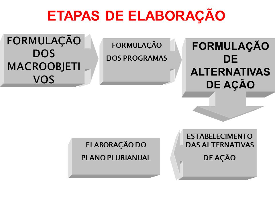 ETAPAS DE ELABORAÇÃO FORMULAÇÃO DOS MACROOBJETIVOS