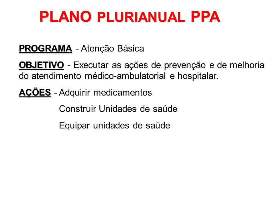 PLANO PLURIANUAL PPA PROGRAMA - Atenção Básica