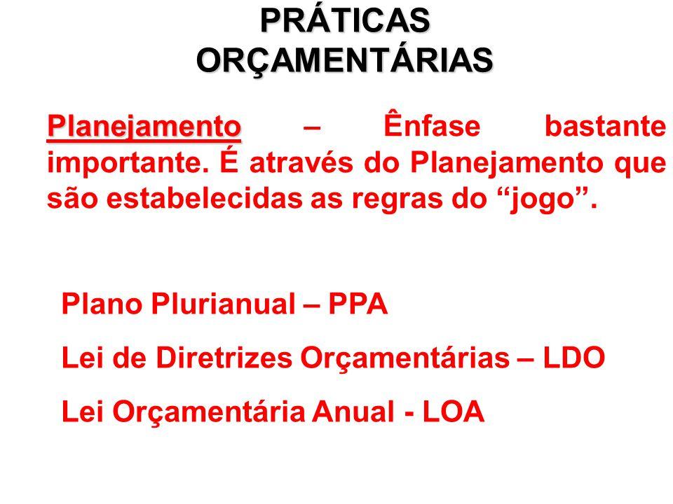 PRÁTICAS ORÇAMENTÁRIAS