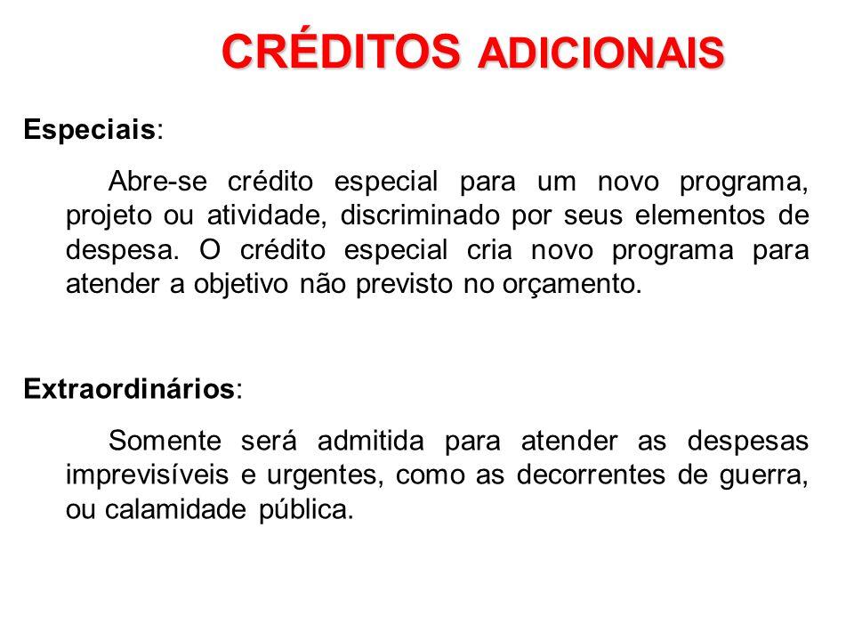 CRÉDITOS ADICIONAIS Especiais: