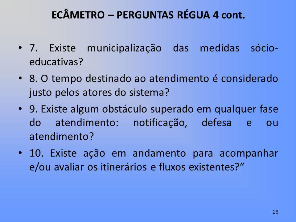 ECÂMETRO – PERGUNTAS RÉGUA 4 cont.