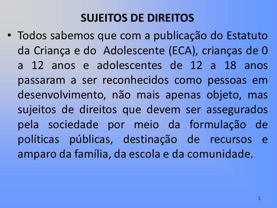 SUJEITOS DE DIREITOS