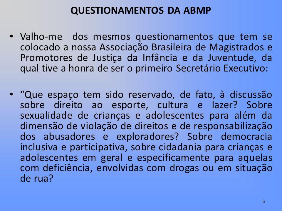 QUESTIONAMENTOS DA ABMP