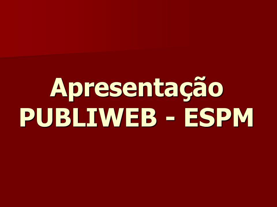 Apresentação PUBLIWEB - ESPM
