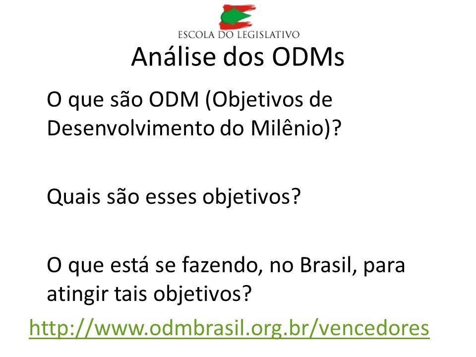 Análise dos ODMs