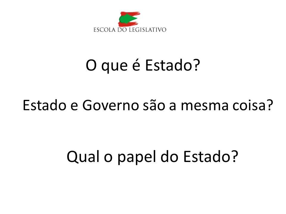 Estado e Governo são a mesma coisa