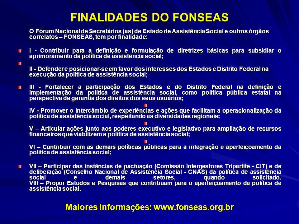 FINALIDADES DO FONSEAS