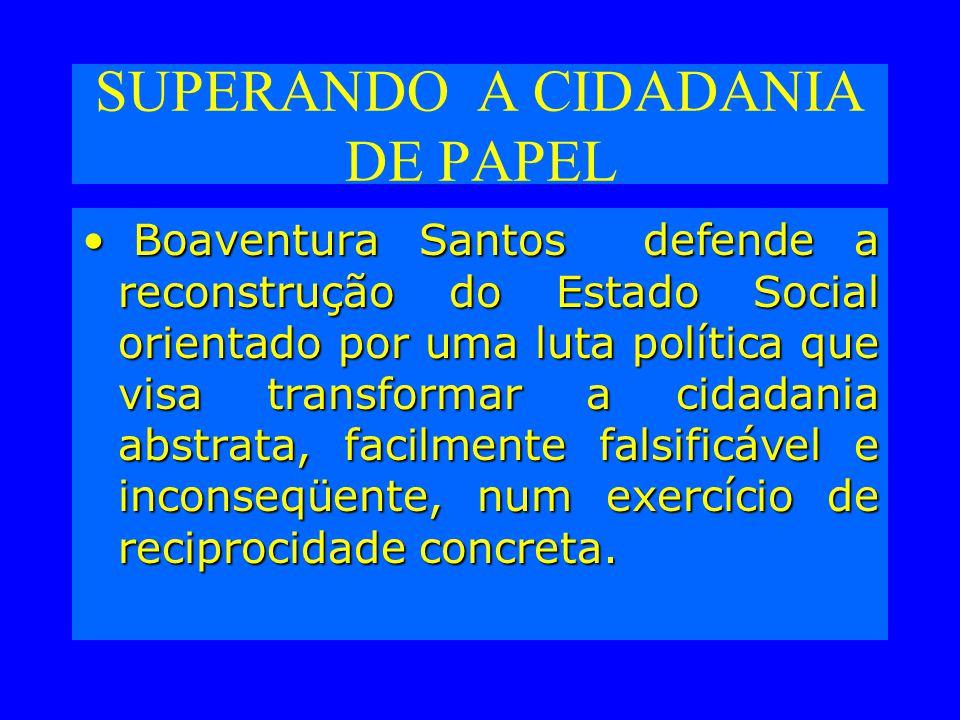 SUPERANDO A CIDADANIA DE PAPEL