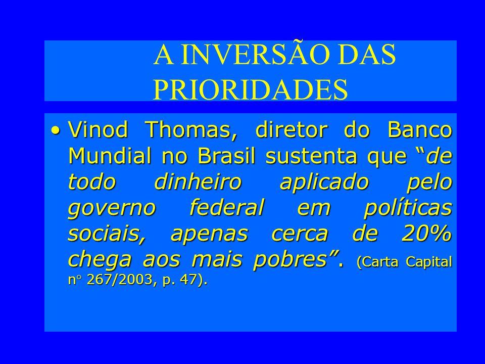A INVERSÃO DAS PRIORIDADES