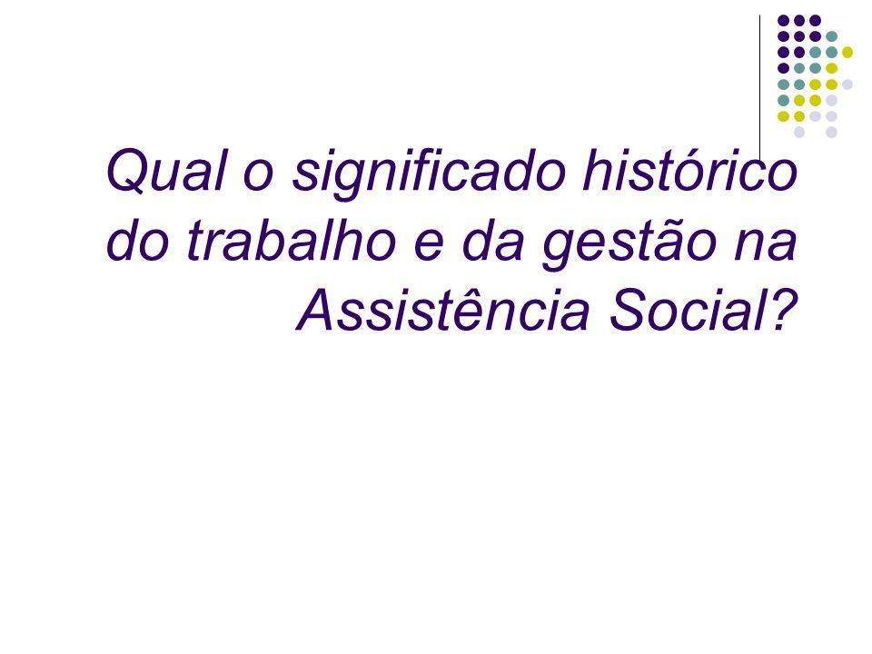 Qual o significado histórico do trabalho e da gestão na Assistência Social