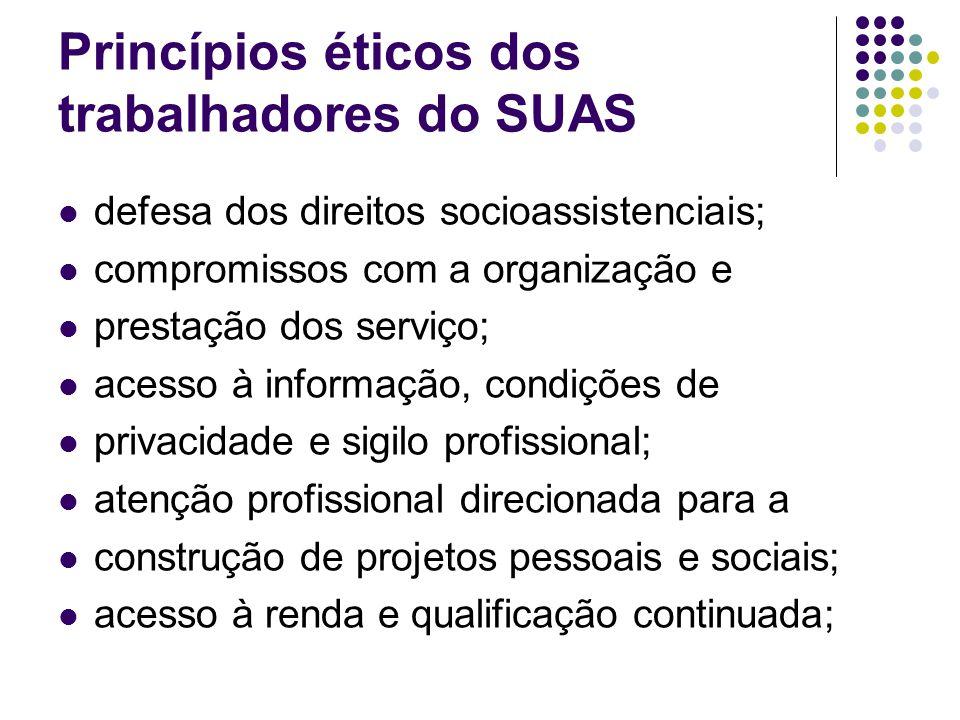 Princípios éticos dos trabalhadores do SUAS
