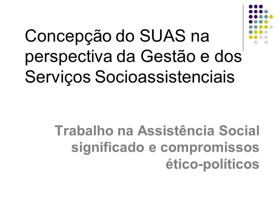 Concepção do SUAS na perspectiva da Gestão e dos Serviços Socioassistenciais