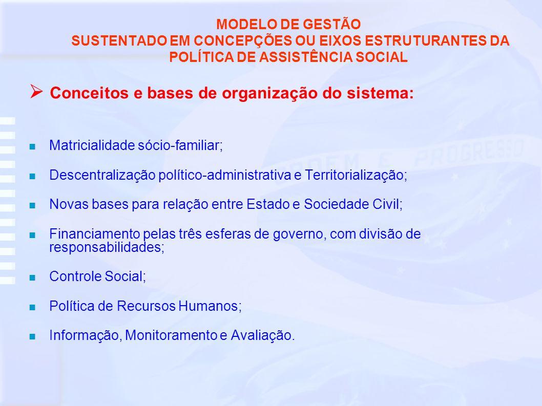  Conceitos e bases de organização do sistema: