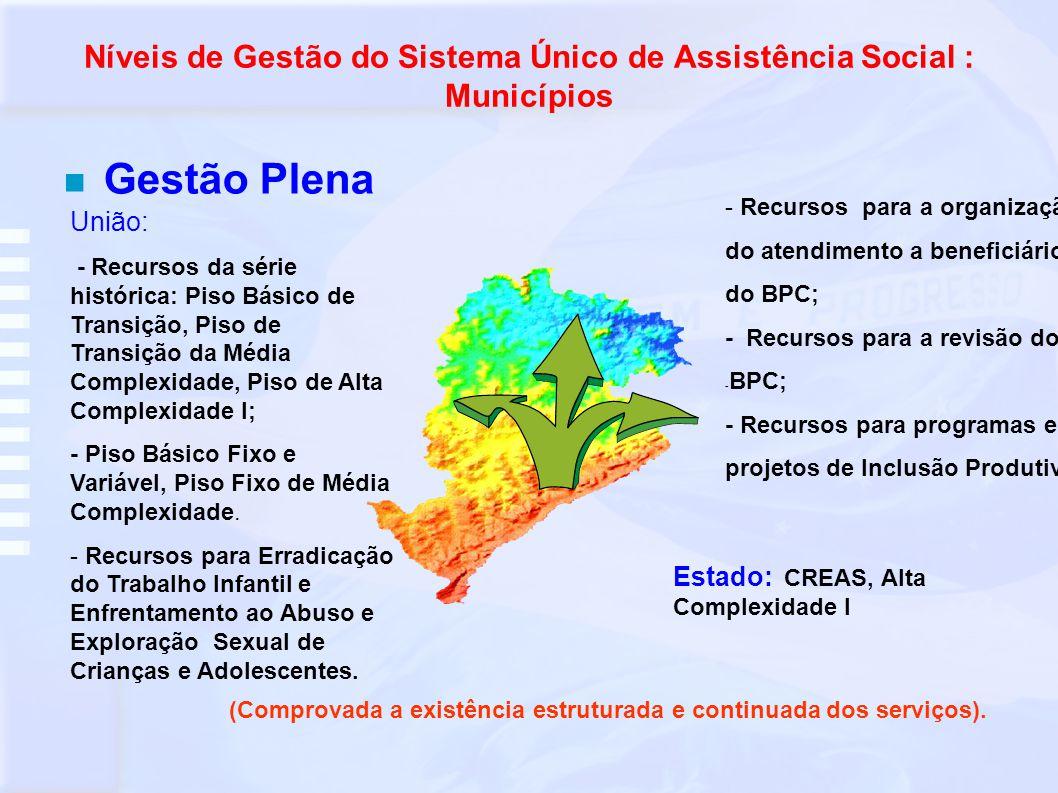 Níveis de Gestão do Sistema Único de Assistência Social : Municípios