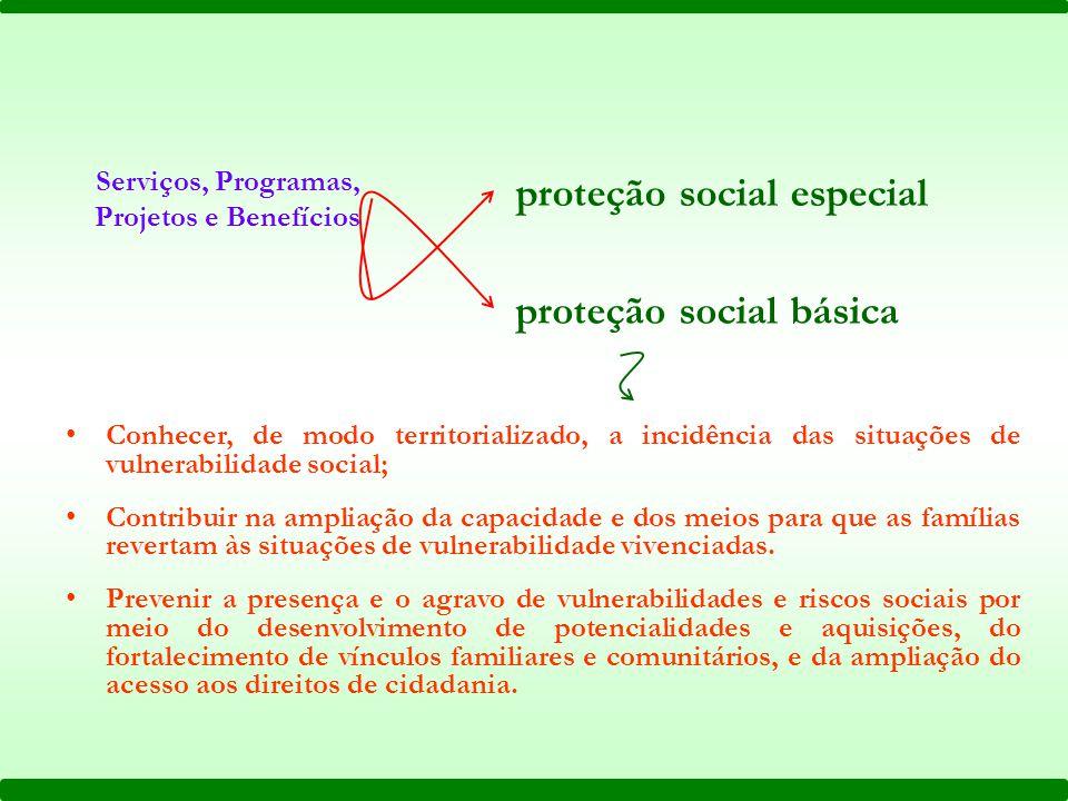 Serviços, Programas, Projetos e Benefícios