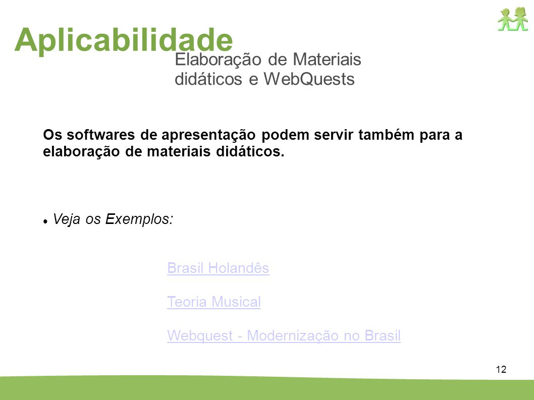 Aplicabilidade Elaboração de Materiais didáticos e WebQuests