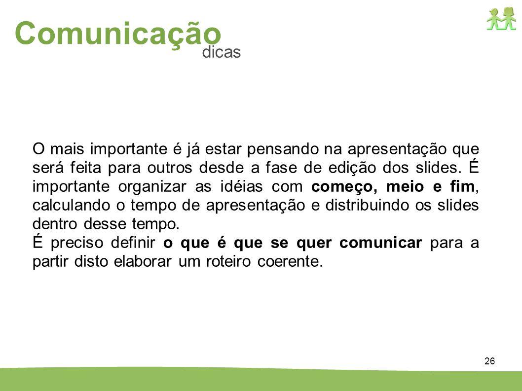 Comunicação dicas.