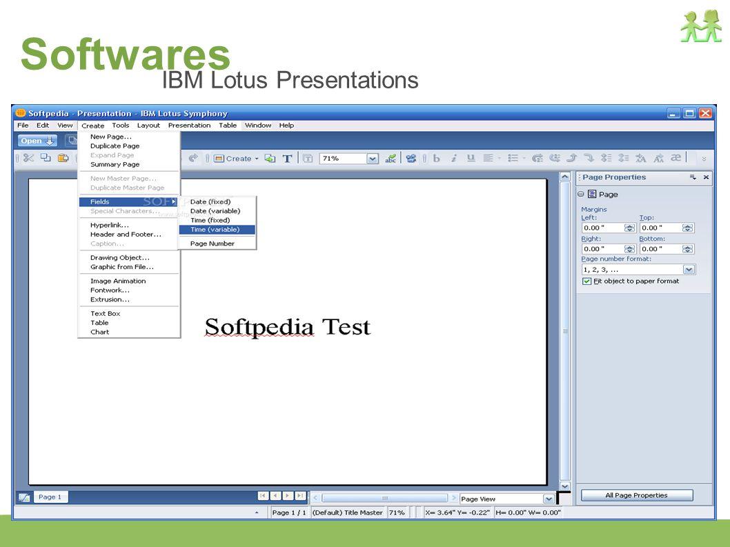 Softwares IBM Lotus Presentations