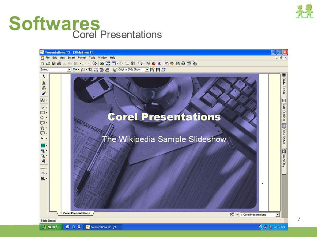 Softwares Corel Presentations