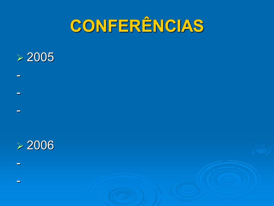 CONFERÊNCIAS 2005 - 2006