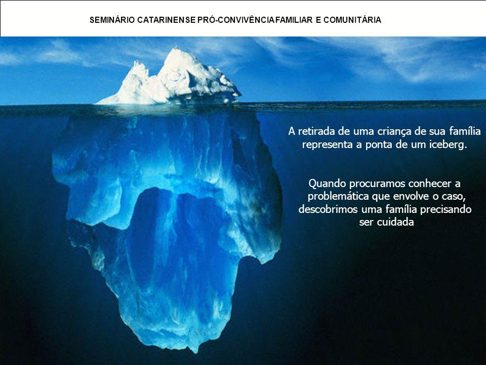 A retirada de uma criança de sua família representa a ponta de um iceberg.