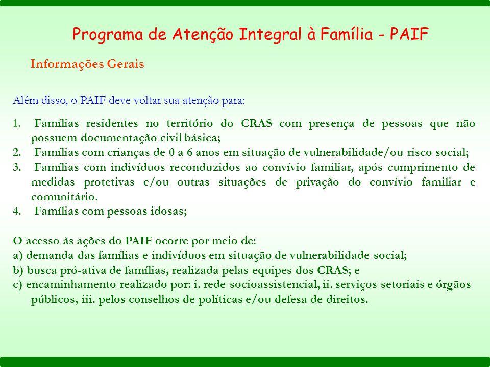 Programa de Atenção Integral à Família - PAIF