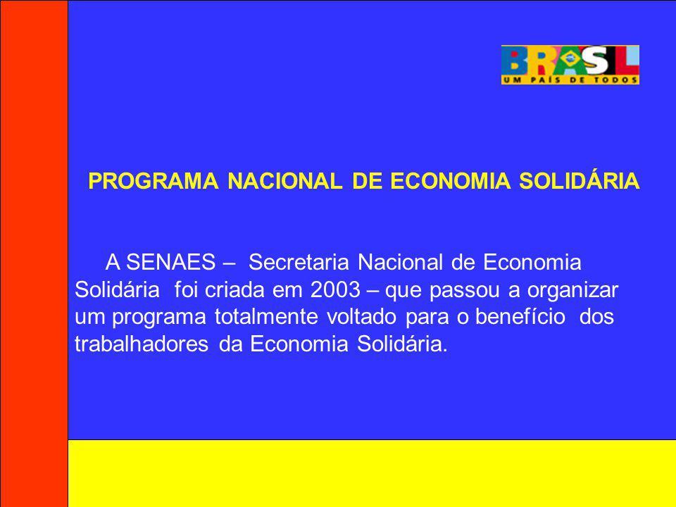 PROGRAMA NACIONAL DE ECONOMIA SOLIDÁRIA
