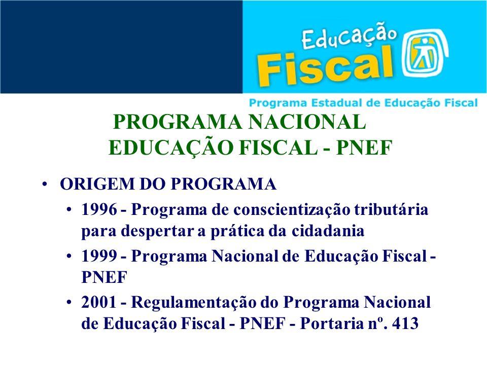 PROGRAMA NACIONAL EDUCAÇÃO FISCAL - PNEF