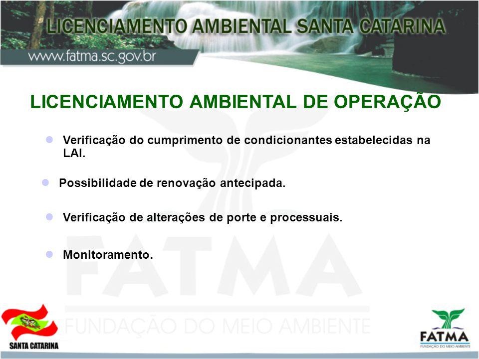 LICENCIAMENTO AMBIENTAL DE OPERAÇÃO
