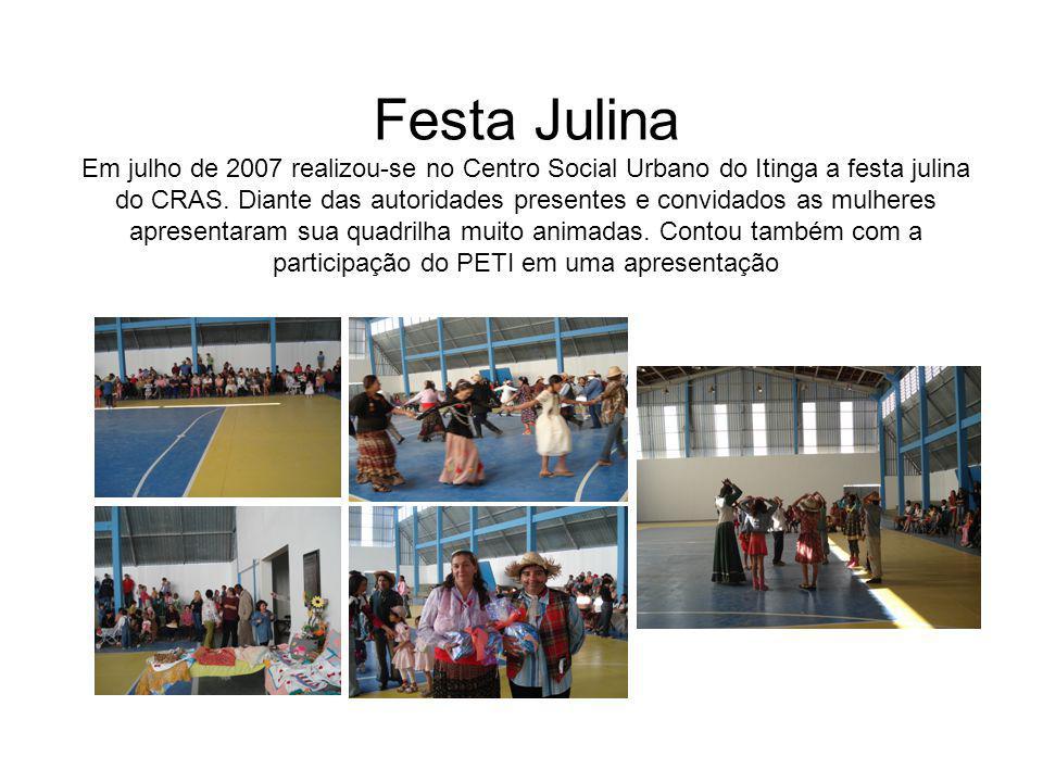 Festa Julina Em julho de 2007 realizou-se no Centro Social Urbano do Itinga a festa julina do CRAS.