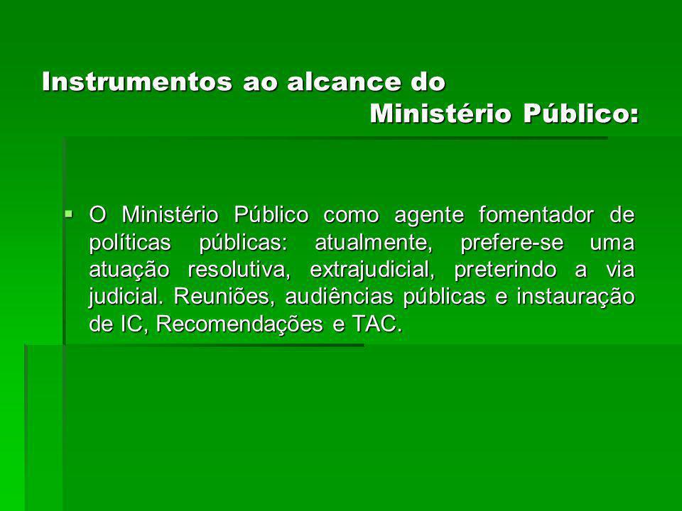 Instrumentos ao alcance do Ministério Público: