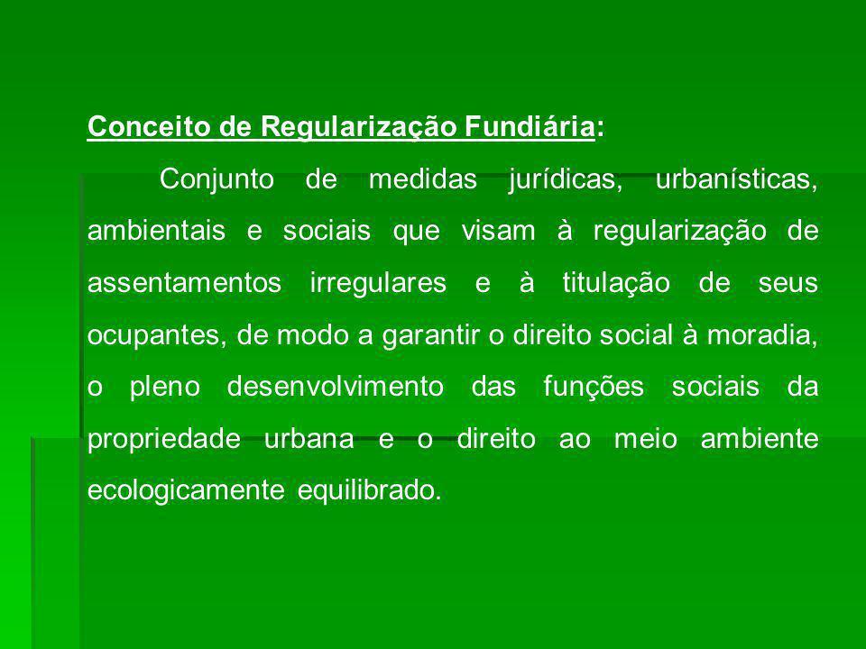 Conceito de Regularização Fundiária: