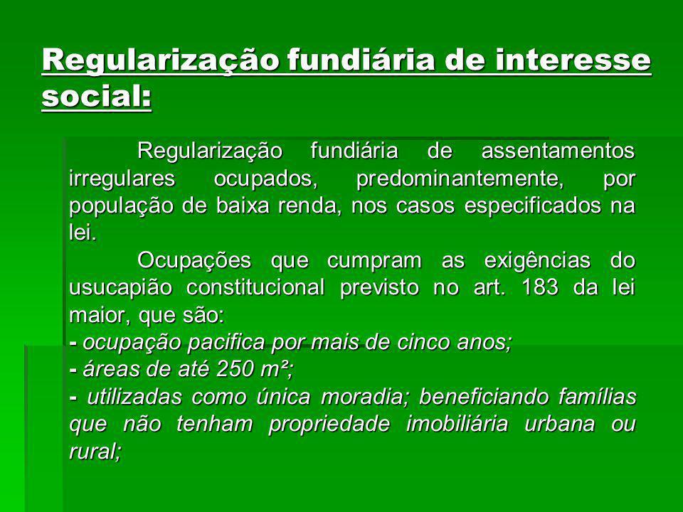 Regularização fundiária de interesse social:
