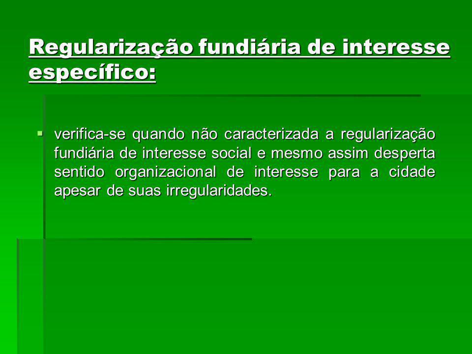 Regularização fundiária de interesse específico: