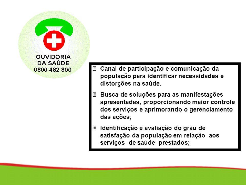 Canal de participação e comunicação da população para identificar necessidades e distorções na saúde.