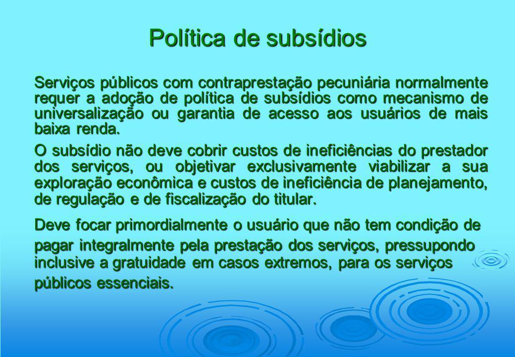Política de subsídios