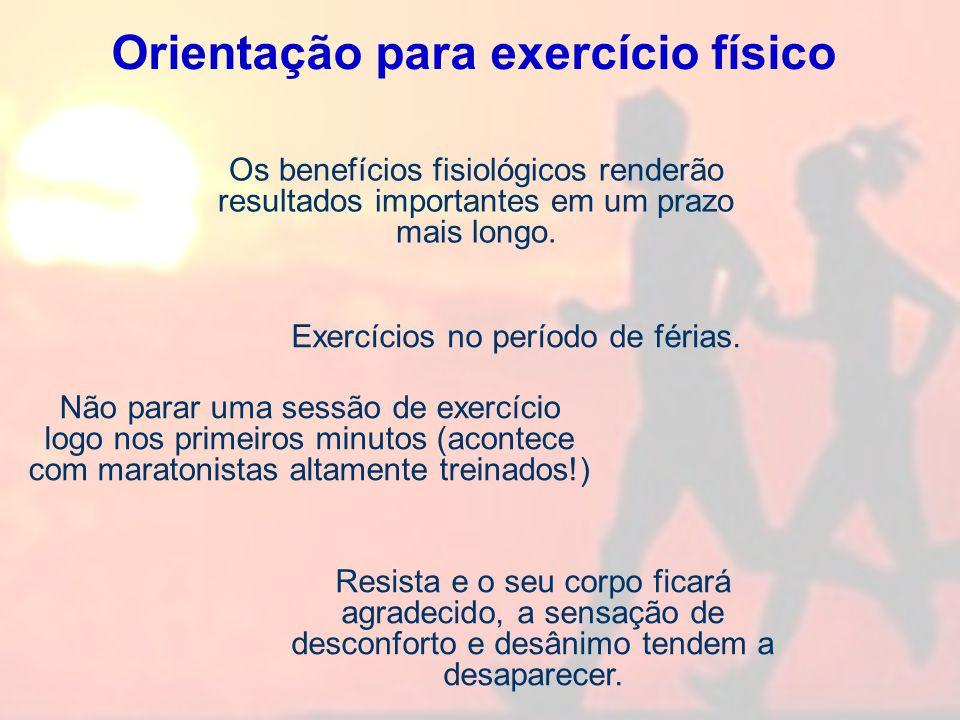 Orientação para exercício físico