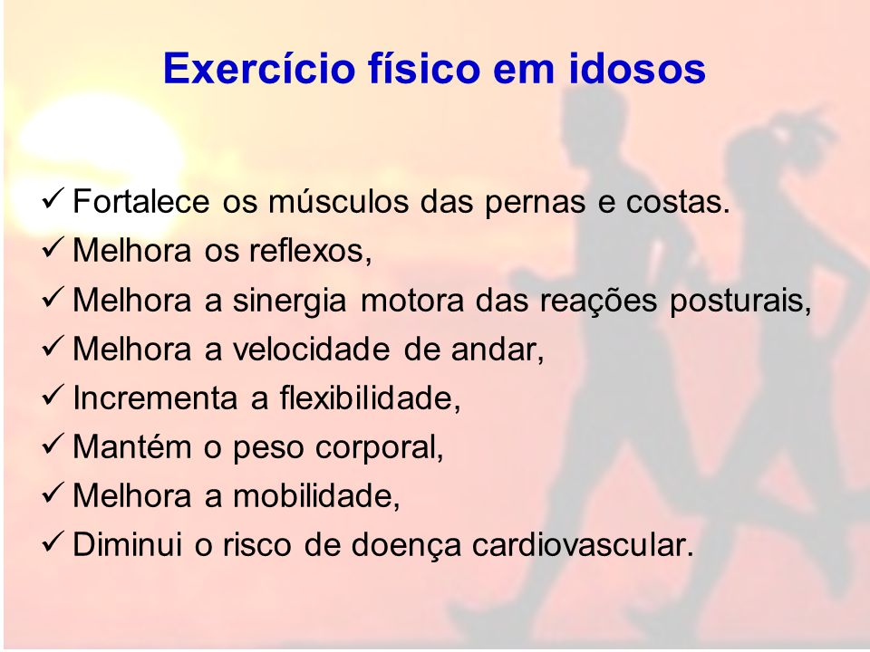 Exercício físico em idosos