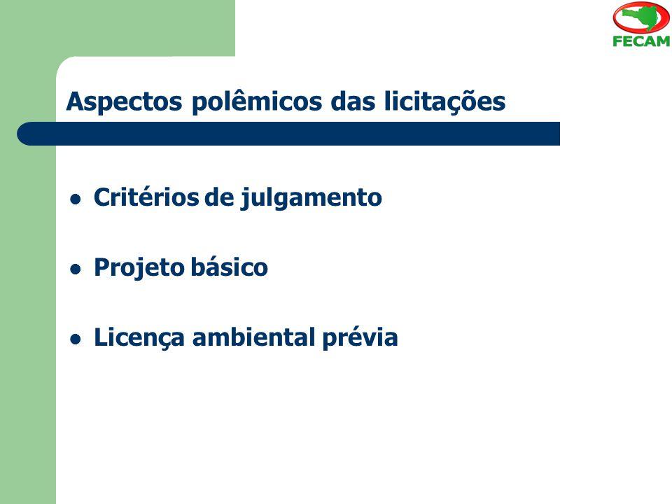 Aspectos polêmicos das licitações