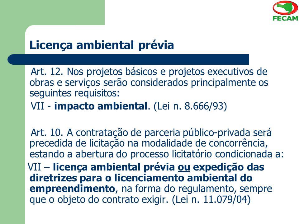 Licença ambiental prévia