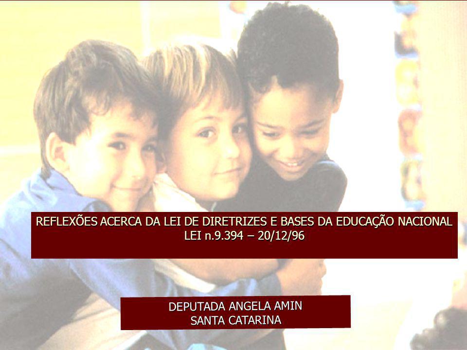 REFLEXÕES ACERCA DA LEI DE DIRETRIZES E BASES DA EDUCAÇÃO NACIONAL LEI n.9.394 – 20/12/96