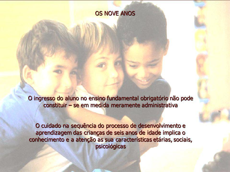 OS NOVE ANOS O ingresso do aluno no ensino fundamental obrigatório não pode constituir – se em medida meramente administrativa.