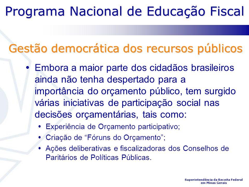 Gestão democrática dos recursos públicos