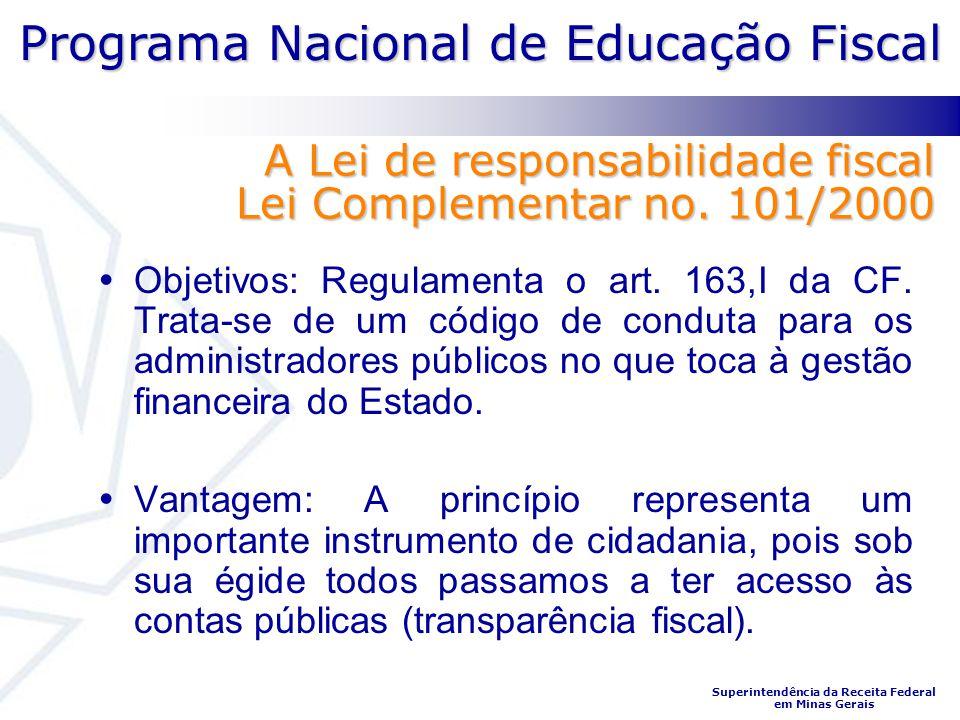 A Lei de responsabilidade fiscal Lei Complementar no. 101/2000