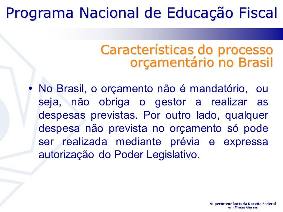 Características do processo orçamentário no Brasil