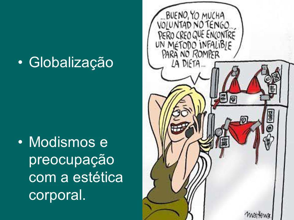 Globalização Modismos e preocupação com a estética corporal.