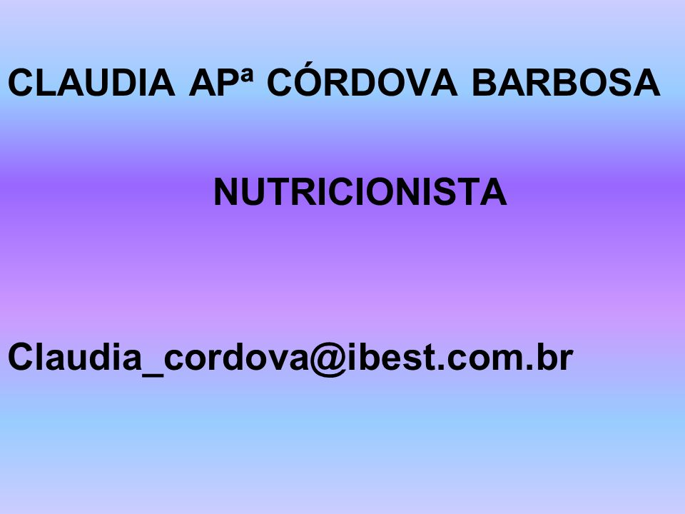 CLAUDIA APª CÓRDOVA BARBOSA