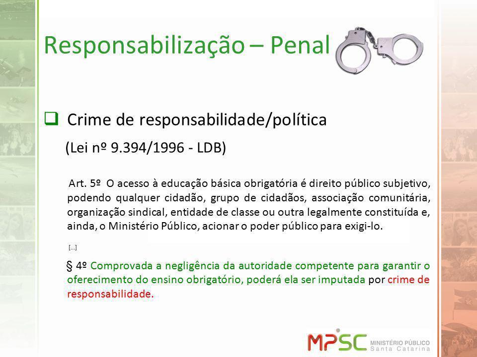Responsabilização – Penal